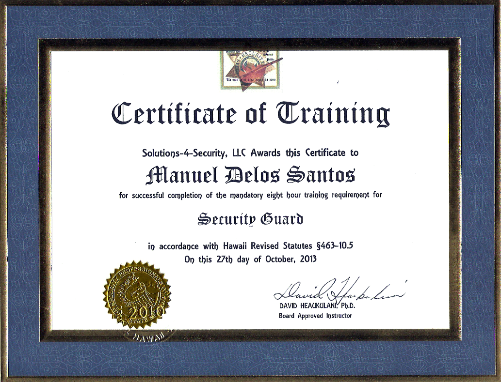 Solutions 4 Security Llc Security Guard Training